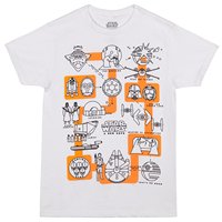Star Wars A New Hope Pictogram T Shirt High Quality Print T Shirt Summer Style Cool