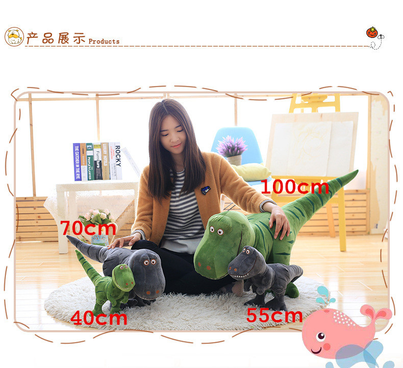 40-100cm Dinosaur Plush Toys Cartoon Tyrannosaurus Cute Stuffed Toy Dolls Gifts