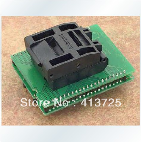 Importing DIL44/TQFP44-1 IC burn ZIF block switchover testing, programming importing ic qfp32 programming block sa663 block burning test socket adapter convert