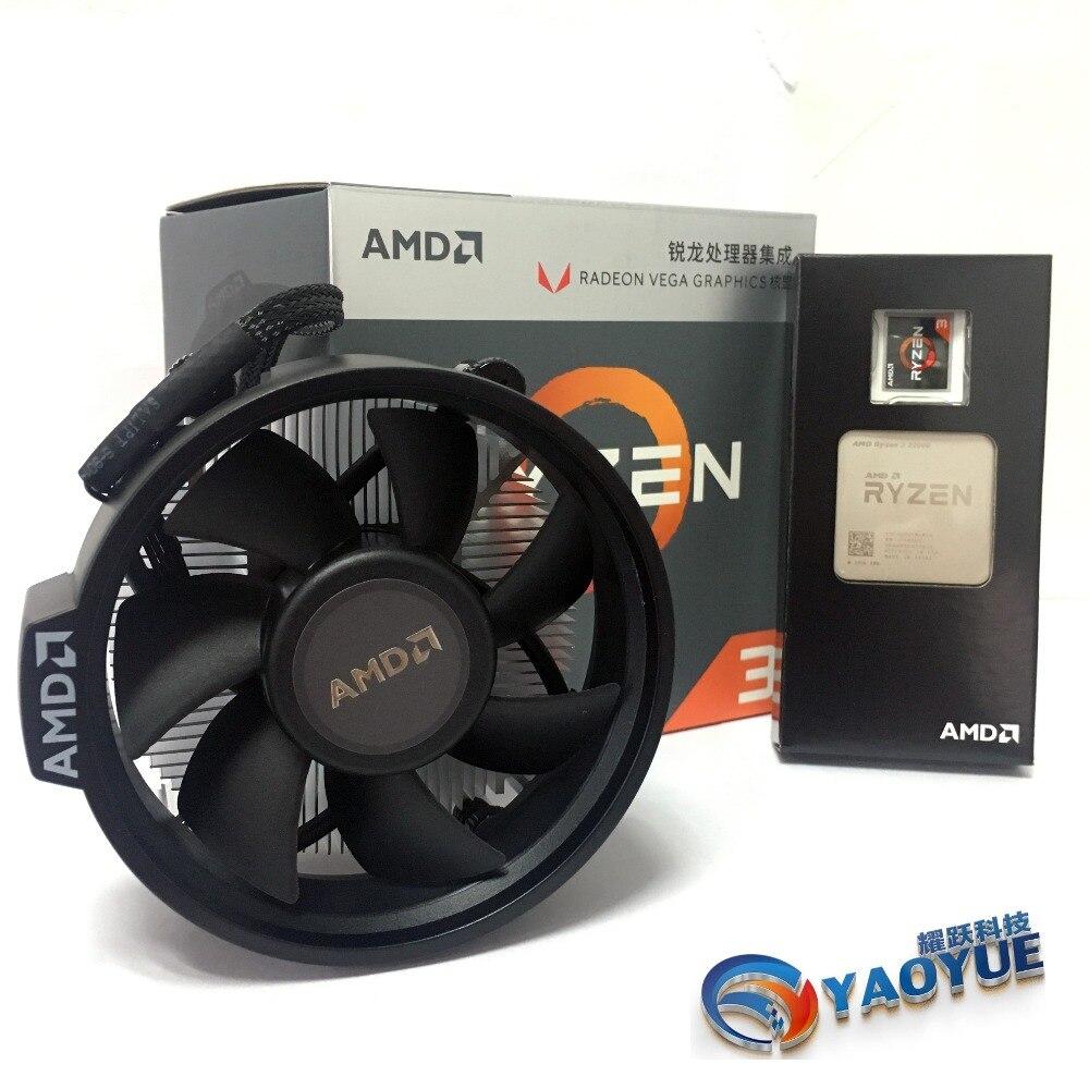 AMD Ryzen 3 2200G PC Ordinateur Quad-Core processeur AM4 Bureau En Boîte CPU Contient refroidisseur