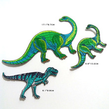 3D embroidery dinosaur patches for clothing Embroidered ironing Patches DIY iron on animals parches appliques