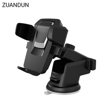 ZUANDUN Car Phone Holder Universal 360 Degree Windshield Mobile Phone Holder Stand Mount Cell Phone Holder Bracket For Xiaomi