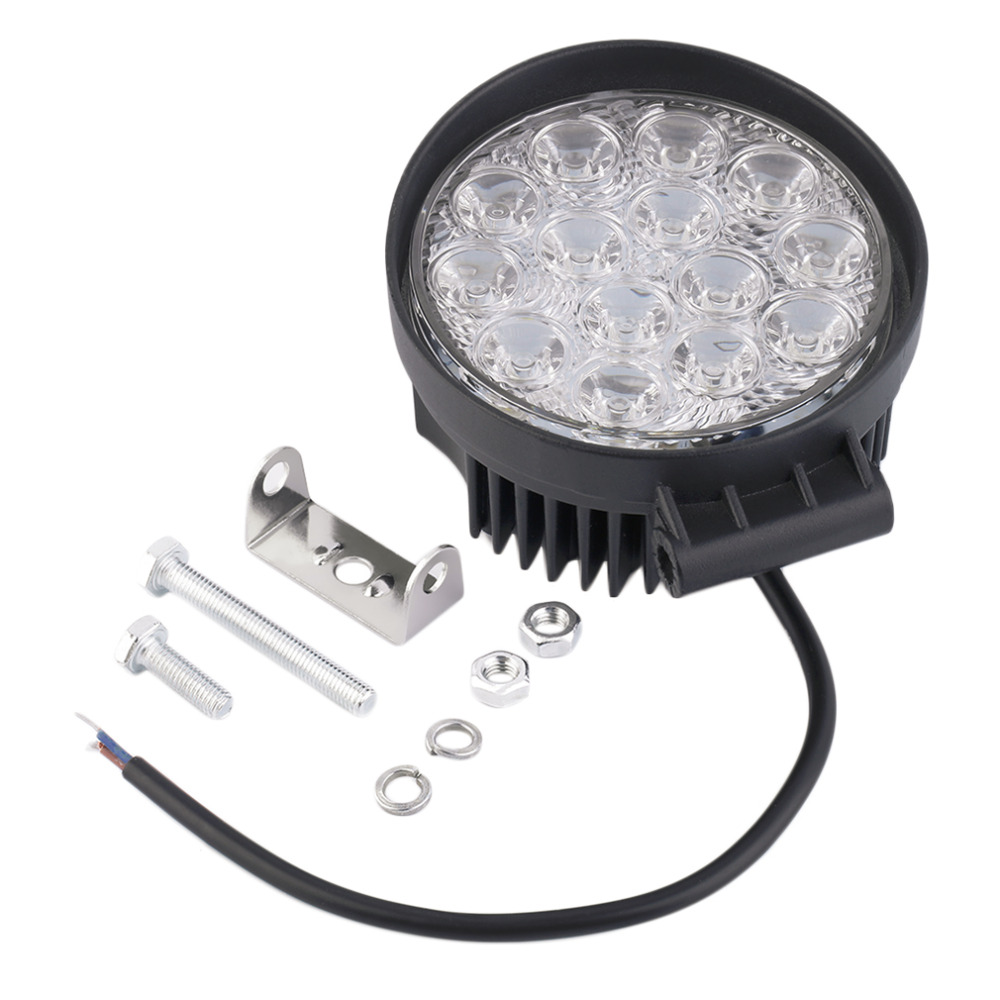 new waterproof 27w off road spot light round led work light led spot lamp for car truck vehicle. Black Bedroom Furniture Sets. Home Design Ideas