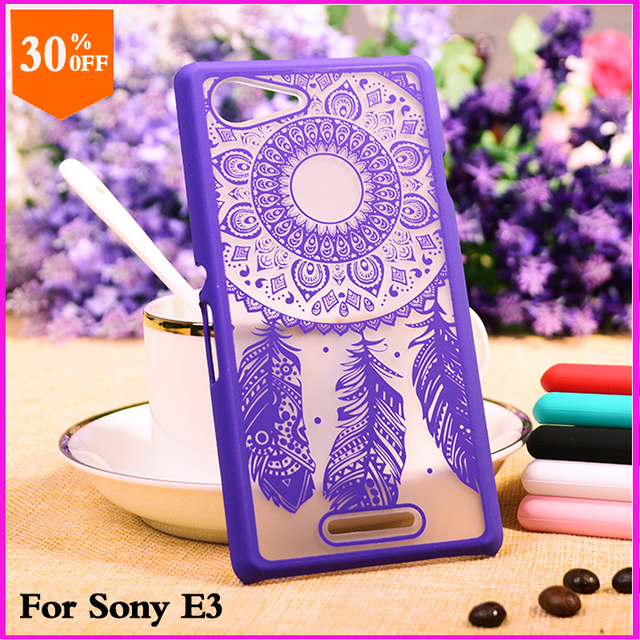 online store 11282 bbee9 US $5.5 |original phone case for sony xperia e3 e 3 cell mobile phone hard  max protective case cartoon luxury thin back cover cases-in Half-wrapped ...