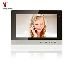 YobangSecurity 10 Inch Color LCD Screen Monitor Wired Video Door Entry System Video Door Phone Intercoms