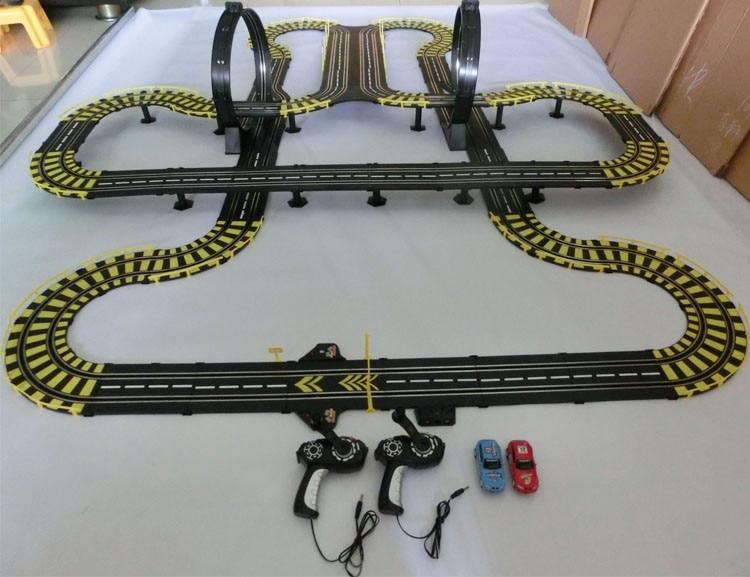 electric slot car track racing 143 scale 1167m rail double orbit electric rc car