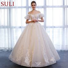 SuLi SL-162 A-Line Short Sleeve Lace Wedding Dress 2018