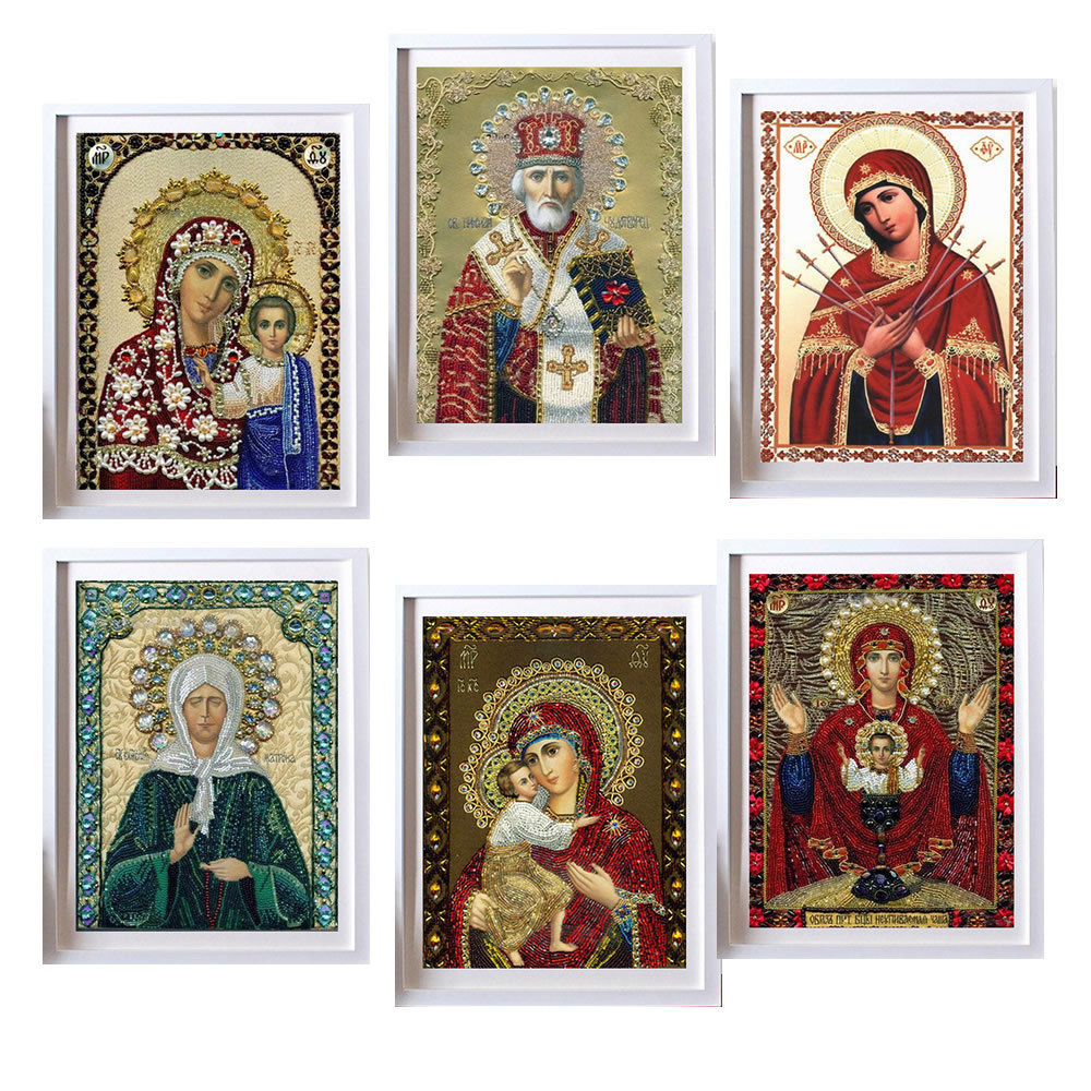 Pittura diamante 5D Rotondo pittura diamante diy ricamo punto croce Home Decor diamante mosaico religioso per le persone regalo