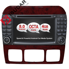 Android 8.0 Two Din 7 Inch Car DVD Player Stereo System For Mercedes/Benz/S320/S350/S400/W220/W215 S Class 4G RAM WIFI Radio GPS