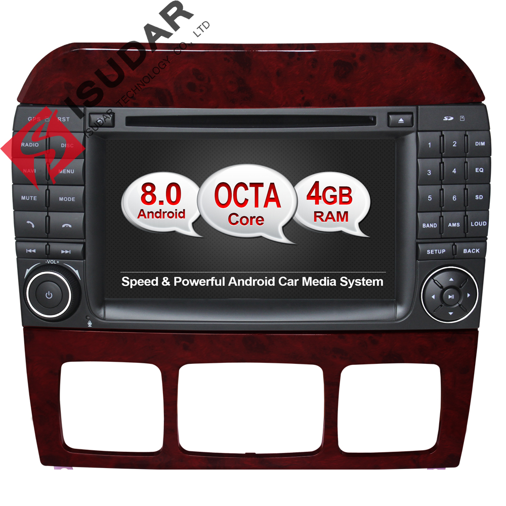 Android 6 0 7 Inch Car DVD Player For Mercedes Benz S320 S350 S400 S500 W220