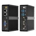 Mini PC Fanless Quad-core Intel Celeron J1900 J1800 2*LAN 2*RS232 Serial Ports HDMI VGA 300Mbps WiFi Gigabit LAN Windows Linux