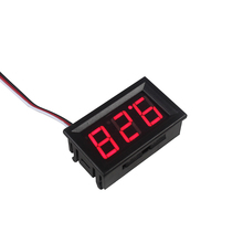 Eletrônica inteligente LED Red Voltímetro Digital Medidor Volt Voltage Meter Painel Displays de LED 4.5-30 V DC Motor Do Carro
