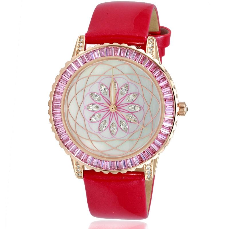 Pattern Female Quartz Watches Woman Full Diamond Fashion Watch Ladies Leather Bracelet Waterproof Clock Top Brand Luxury Table