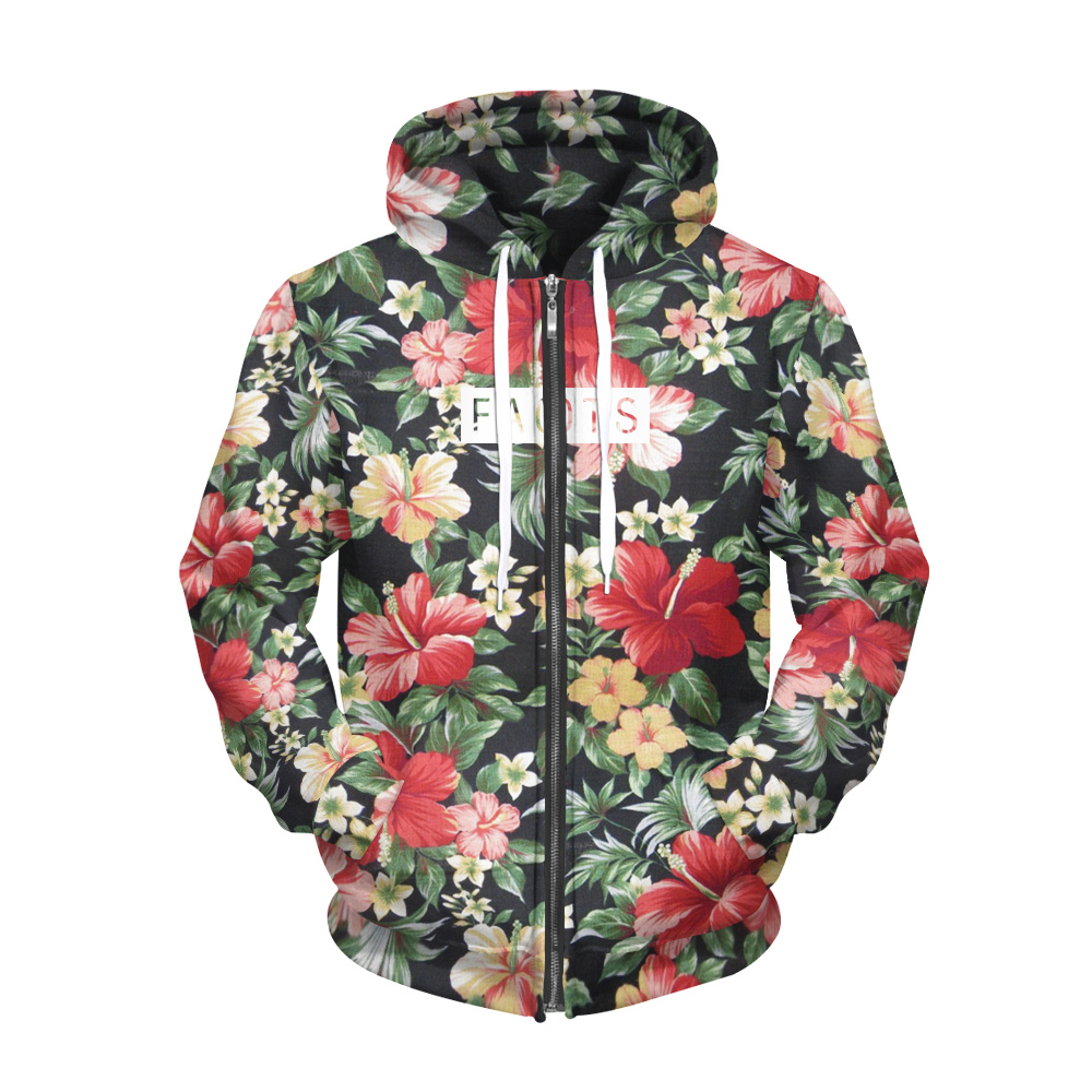 Angemessen Heißer Verkauf Blumen Muster Digitaldruck Lange-Ärmeln Pullover Hoodies Lose Große Größe Polyester Trainingsanzug Für Frauen Attraktive Mode