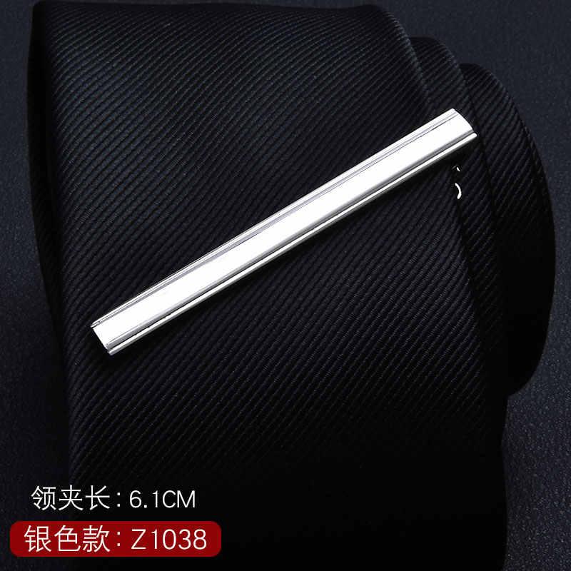 1 Buah Bulu Kacamata Jangkar Kumis Bentuk Kunci Perak Logam Penjepit Dasi untuk Pria Dasi Bar Kristal Dasi Klip Pin untuk Pria Hadiah