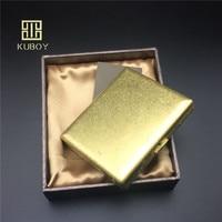 Luxury Gift For Man Classic Copper Knurling Process Cigarette Case Male Metal Cigarette Storage Box Bin