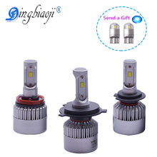 S2 72W 8000LM/set H1 H3 H7 H8 H11 9005 9006 H4 LED Car Headlight bulb near and far beam in a car Assembly CSP Chips