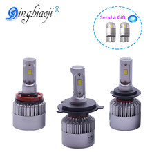 S2 72W 8000LM/set H1 H3 H7 H8 H11 9005 9006 H4 LED Car Headlight bulb near and far beam in a car Headlight Assembly CSP Chips(China)