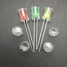 100 шт., 5 мм светодиодный водонепроницаемый дымоход светодиодный светильник направляющий луч/светильник направляющий колпачок/защитный чехол/светодиодный прозрачный колпачок
