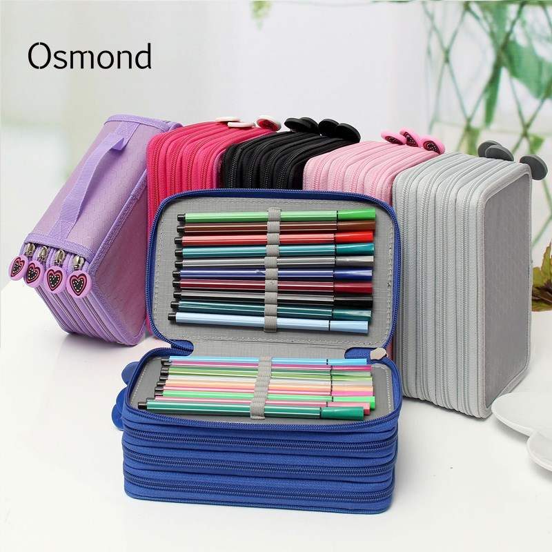 Osmond Multifunctional Cosmetic Bag Women Makeup Case Eyebrow Pencil Cases Kids Pen Storage Organizers Large Stationary Boxes
