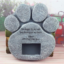 Pet Tombstone Customized Resin Handicraft Animal Souvenir with Photo Frame for Puppy Tombstone