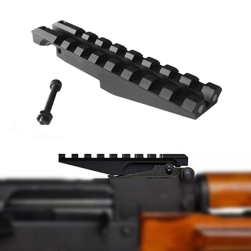 FIRECLUB AK Rear Sight Rail Mount 100mm Picatinny Weaver 20mm Scope Mount Base For Hunting Red Dot Optics AK47 AK74 Adapter(China)