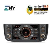 6.2 «Android 9.0 voiture GPS stéréo pour Fiat Grande Punto Linea 2012 2013 2014 2015 Auto Radio FM WiFi Navigation caméra arrière pas de DVD