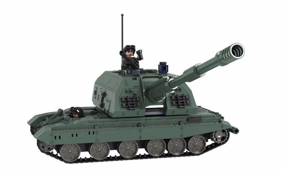 Militaire Russie Classique 2S19 Canon automoteur Réservoir blocs de construction Modèle compatible avec Lepin Jouets Briques Meilleur Cadeau