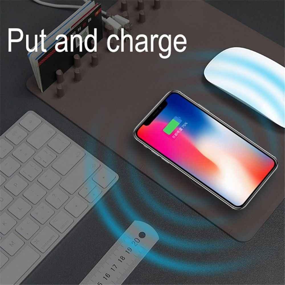 1 قطعة متعددة الوظائف مكافحة زلة ماوس الوسادة حصيرة تشى اللاسلكية شاحن سريع شحن ل فون X 8 سامسونج Note8 s8
