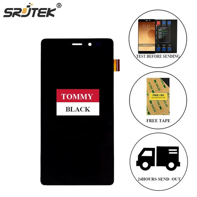 Srjtek For Wiko Tommy LCD Display Matrix + Touch Screen Digitizer Full Assembly 5.0'' 1280x720 For Wiko Tommy Black/White
