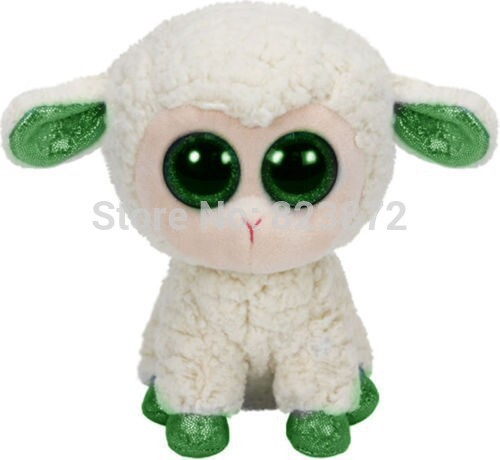 New Ty Plush Animals Beanie Boos Kawaii White Lamb Plush Toys 15cm 6