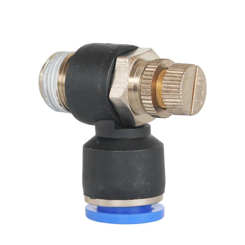 4 мм 6 мм 8 мм 10 мм 12 мм быстрые пневматические фитинги SC регулятор скорости воздуха клапан дроссельной заслонки