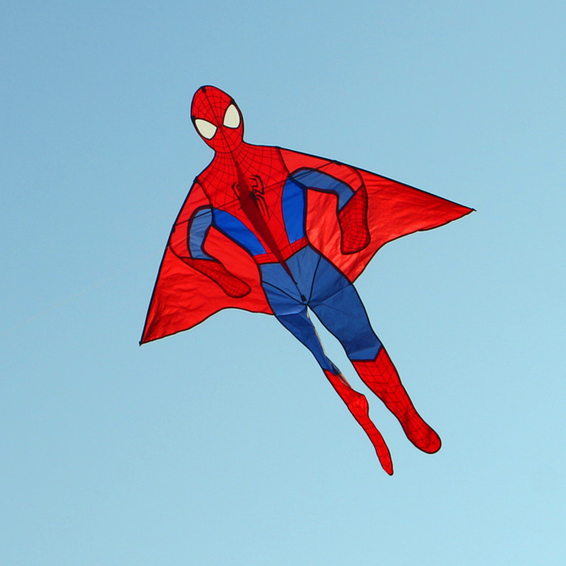 Купить с кэшбэком free shipping high quality 2m spider kites10pcs/lot new style kite large kite wholesale kite factory with handle line cartoon