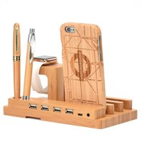Bamboo Wood Charge Dock Charge Dock Holder Stand Bamboo Wood Charge Station Cradle For Apple Watch