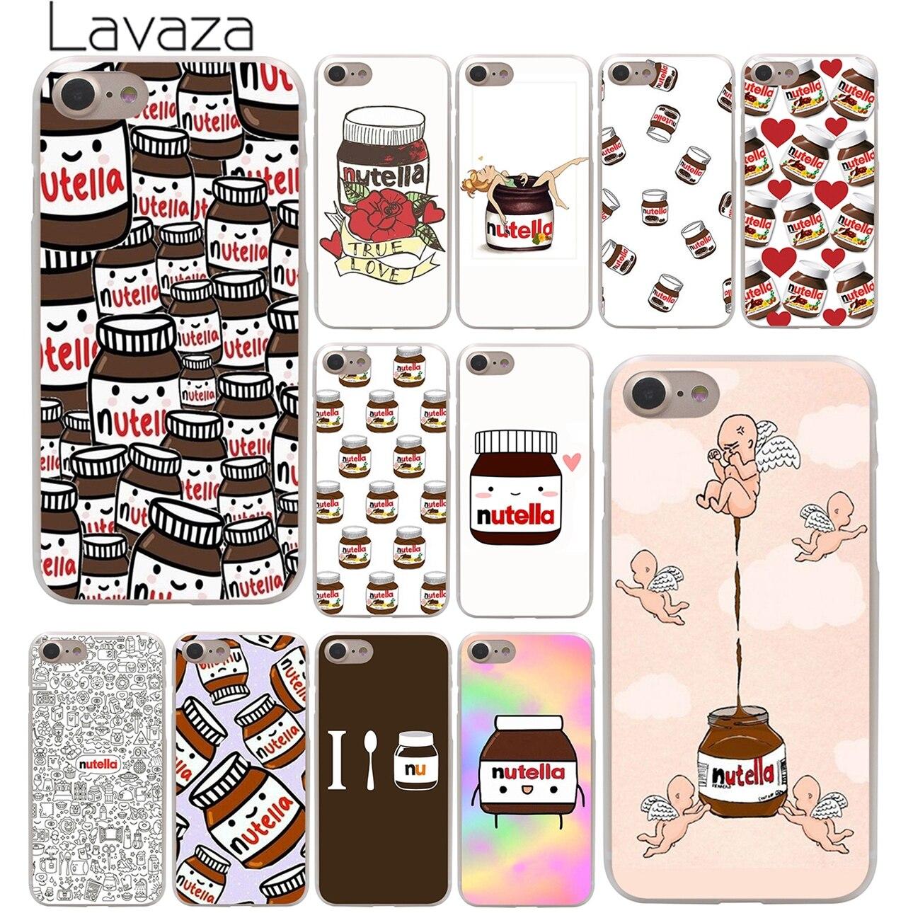 chocolate Food Tumblr Nutella Hard Case Transparent for iPhone 7 7 Plus 6 6s Plus 5 5S SE 5C 4 4S