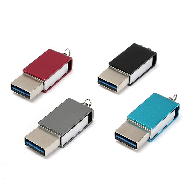 Multifunction 4 Color USB 3.0 Type-C 2 In 1 16G 32G 64G Rotating USB Flash Drive U Disk External Memory For PC Type-C Smartphone
