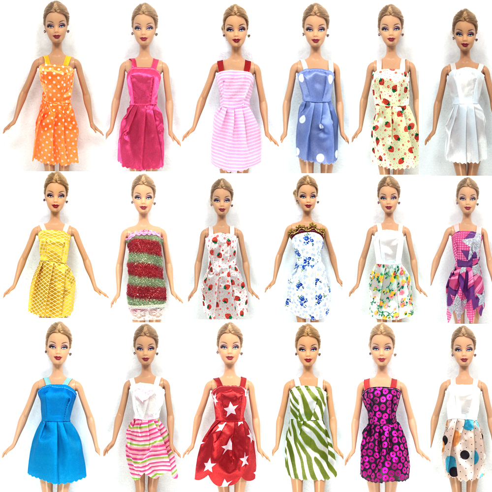NK-Hot-Sell-26-ItemSet10-Pcs-Mix-Sorts-Beautiful-Party-Clothes-Fashion-Dress6-Plastic-Necklac10-Pair-Shoes-For-Barbie-Doll-3