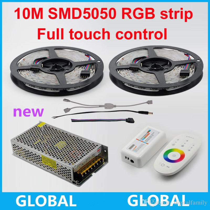 10M 600led No Waterproof SMD5050 RGB 60Leds/M Flexible Led Strip+18A Wireless RF Dimmer full touch Remote Controller+10 A Power laptop cpu cooling heatsink for asus k42d k42dr k42dy a40d x42d k42jd