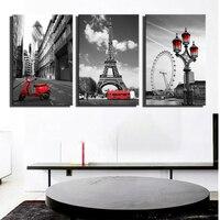Париж Эйфелева башня стены Плакаты для Домашний Декор Парижская улица пейзаж холст Картины дома Куадрос фотографии для Гостиная