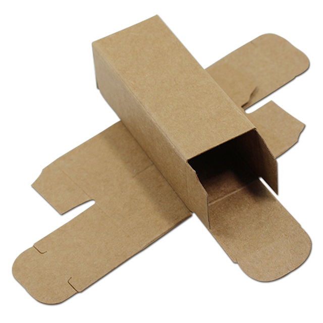 50pcs small brown kraft paper cardboard box diy craft paperboard
