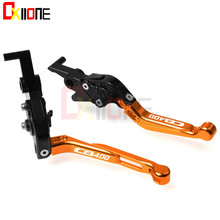 Motorcycle Accessories CNC Adjustable Folding Extendable Motorcycle Brake Clutch Levers For Honda CB400 CB 400 1996