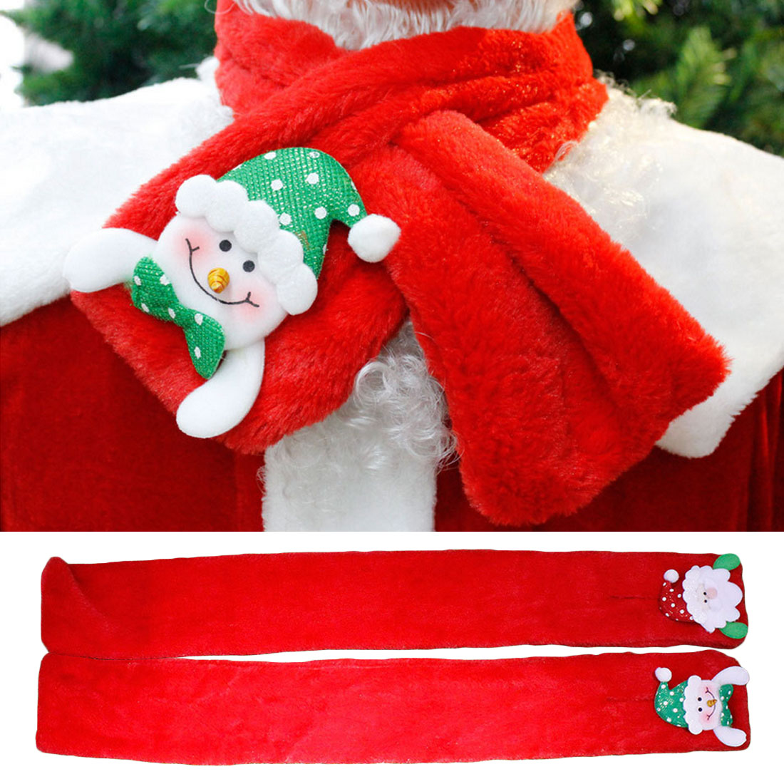 Clothing Accessories Scarf Santa Ring Christmas Decoration Gifts