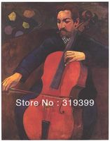 100% handmade paul gauguin 's Oil Painting Reproduction on Linen canvas,The Violoncellist Schneklud,free DHL shipping, portriat