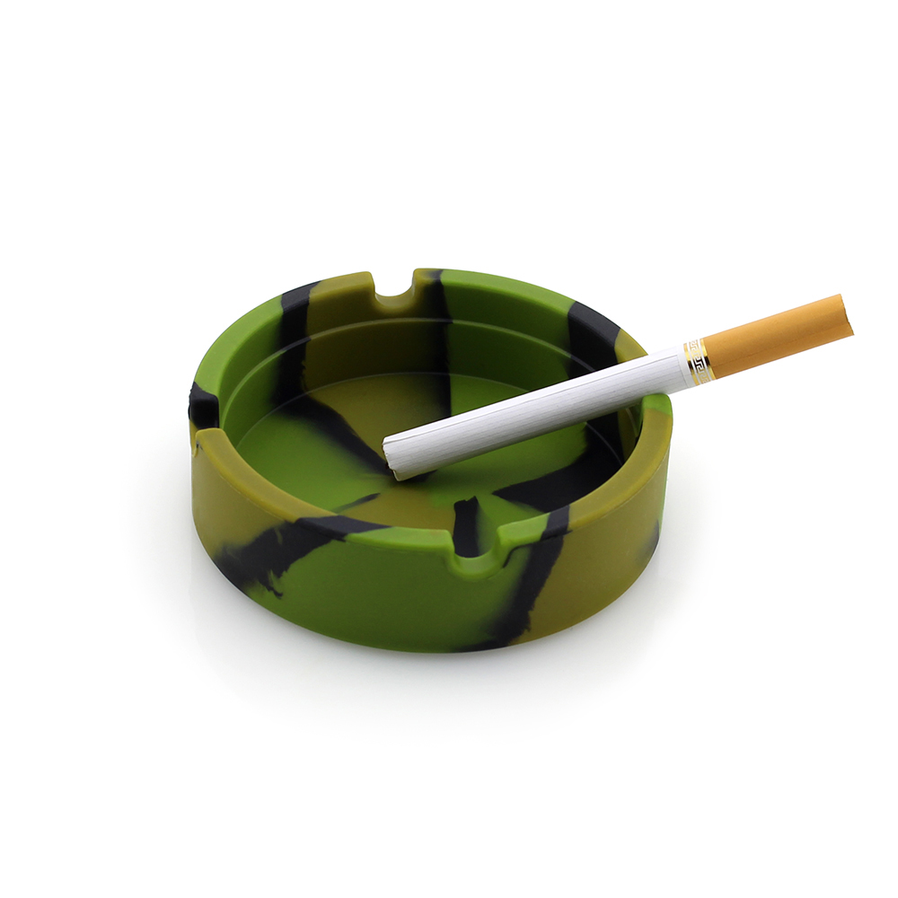 New Portable Rubber Noctilucent Silicone Soft Eco-Friendly Round Ashtray Ash Tray Holder LOT Shatterproof Cinzeiro Free Shipping
