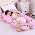 U Forma Olá Kitty Apoio Total Do Corpo de Grandes Dimensões Maternidade Gravidez enfermeira Travesseiro forma de U Conforto Rosquinha Travesseiro do bebê 140 cM x 80 cM