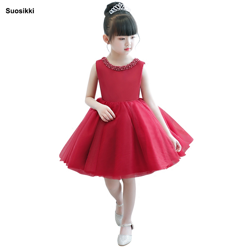 Suosikki 2018 Flower Girls Dresses for Wedding Kids Pageant Dress First Holy Communion Dresses for Little Baby Party Prom Dress