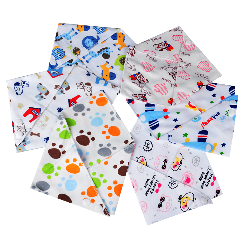 1 Pcs Cotton Baby Bibs Boys Girls Towel Cartoon Baby Bandana Bibs Newborn Baby Bib Infant Saliva Towel Toddler Clothing