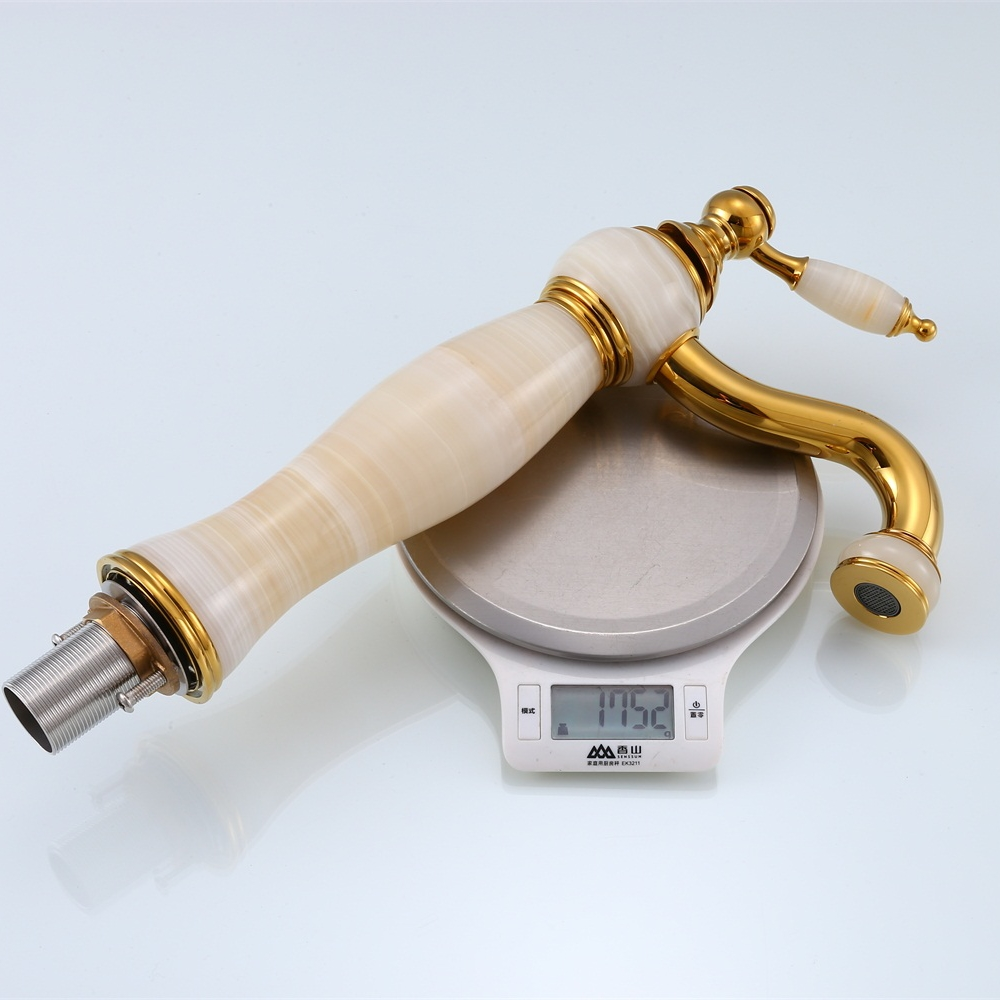 Image 5 - Free shipping Luxury New Natural Marble Decoration Bathroom Lavatory Basin Vessel Sink Mixer Tap XT 1003-in Basin Faucets from Home Improvement
