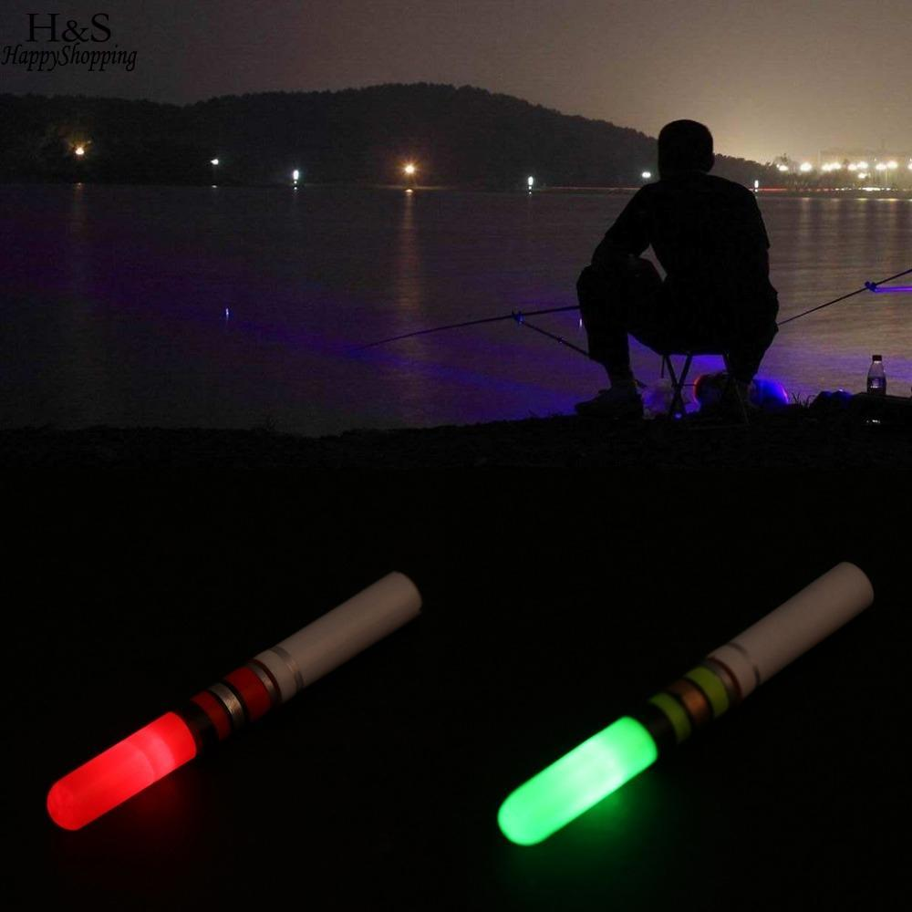 1 Pc Fishing Float Light Stick Green Red Luminous Night Electronic Attractive Tackle With Cr322 Battery Elegant Appearance