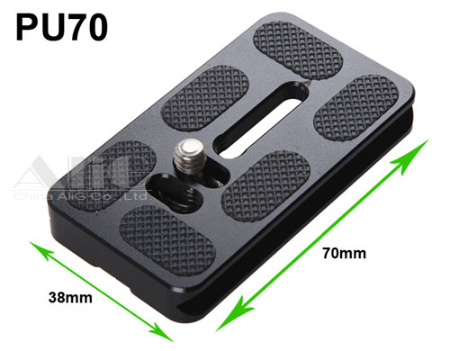 50PCS/Lot Metal PU-70 Quick Release Plate With 1/4 Screw Arca Benro Tripod Ball Head Accessories